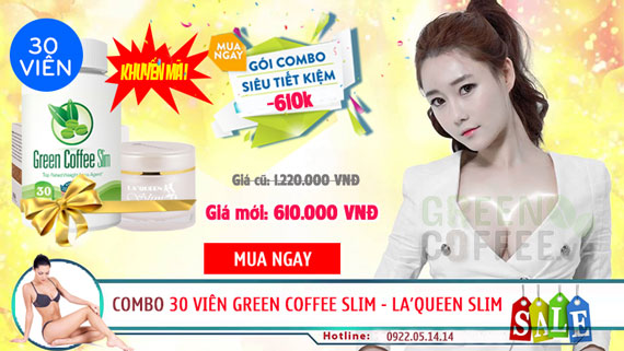combo green coffee slim laqueen slim